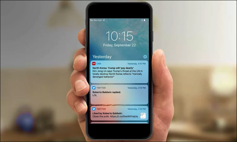 Push-notifications on iphone