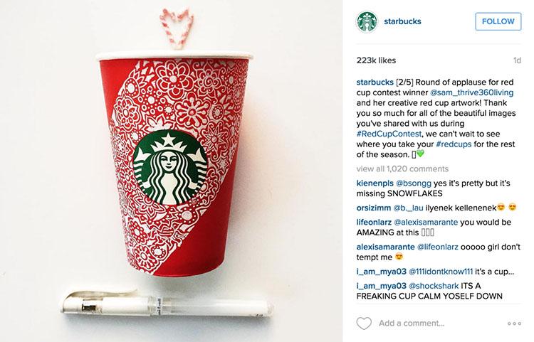 Engagement post in Instagram