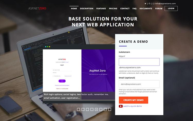 ASP Net Zero framework
