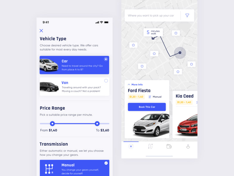 Car catalog in app