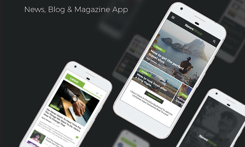 Newspaper, blog and magazine app