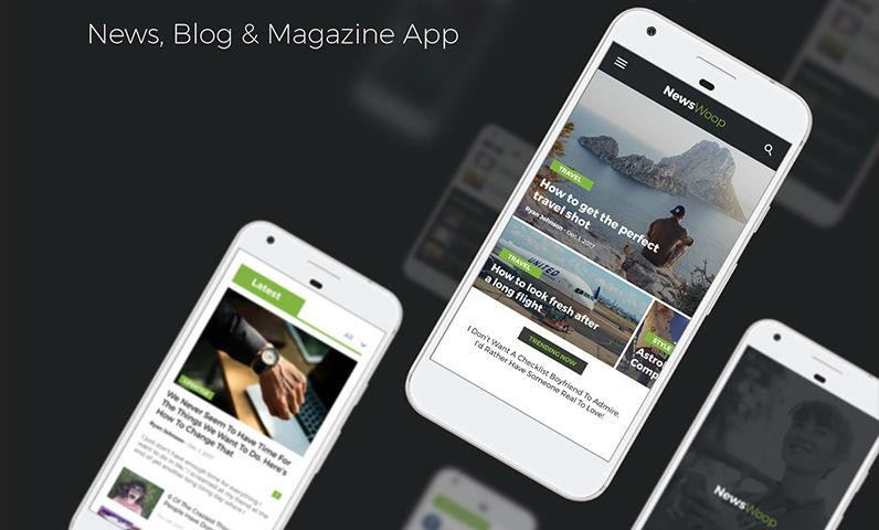 Newspaper, blog and magazine app