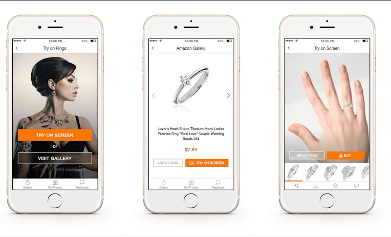 Virtual Jewelry try-on AR app idea