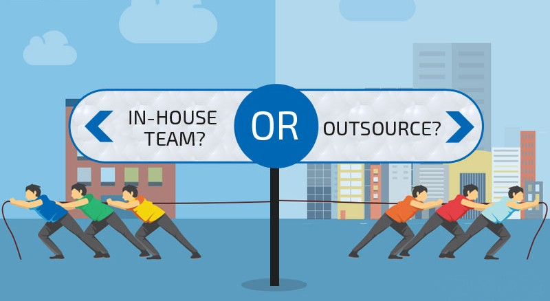 In-house team vs outsourcing