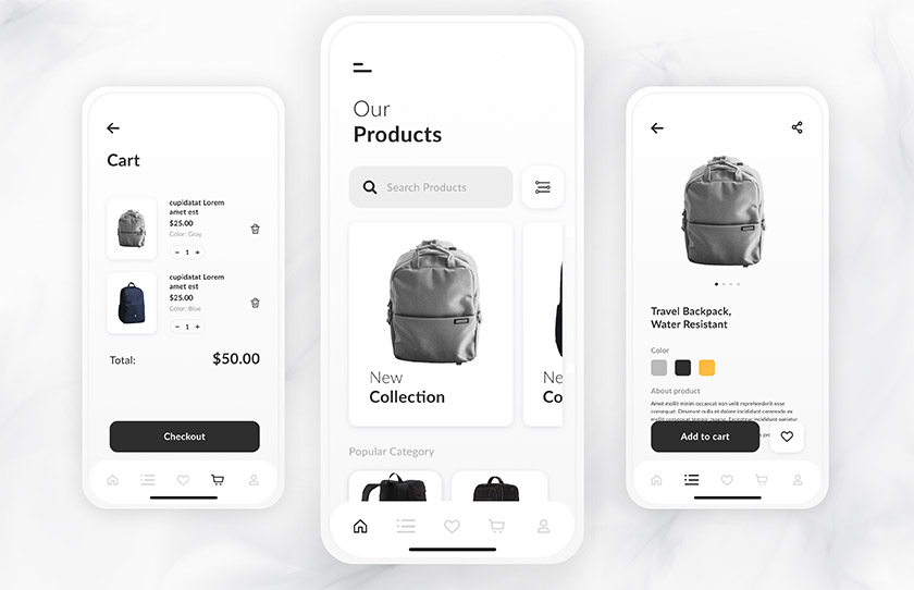 Bagpack Store ecommerce project
