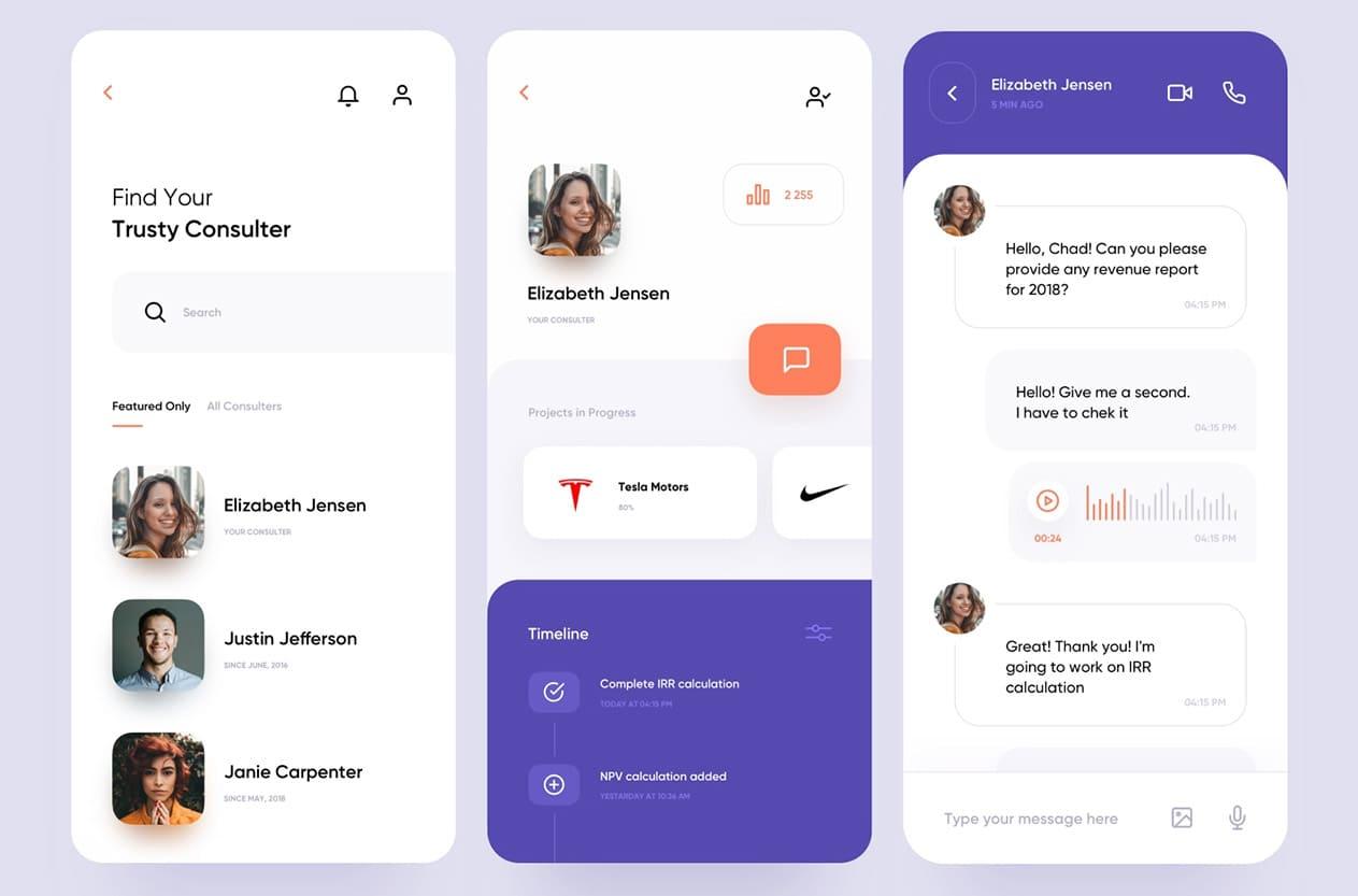 Consulting service mobile application idea