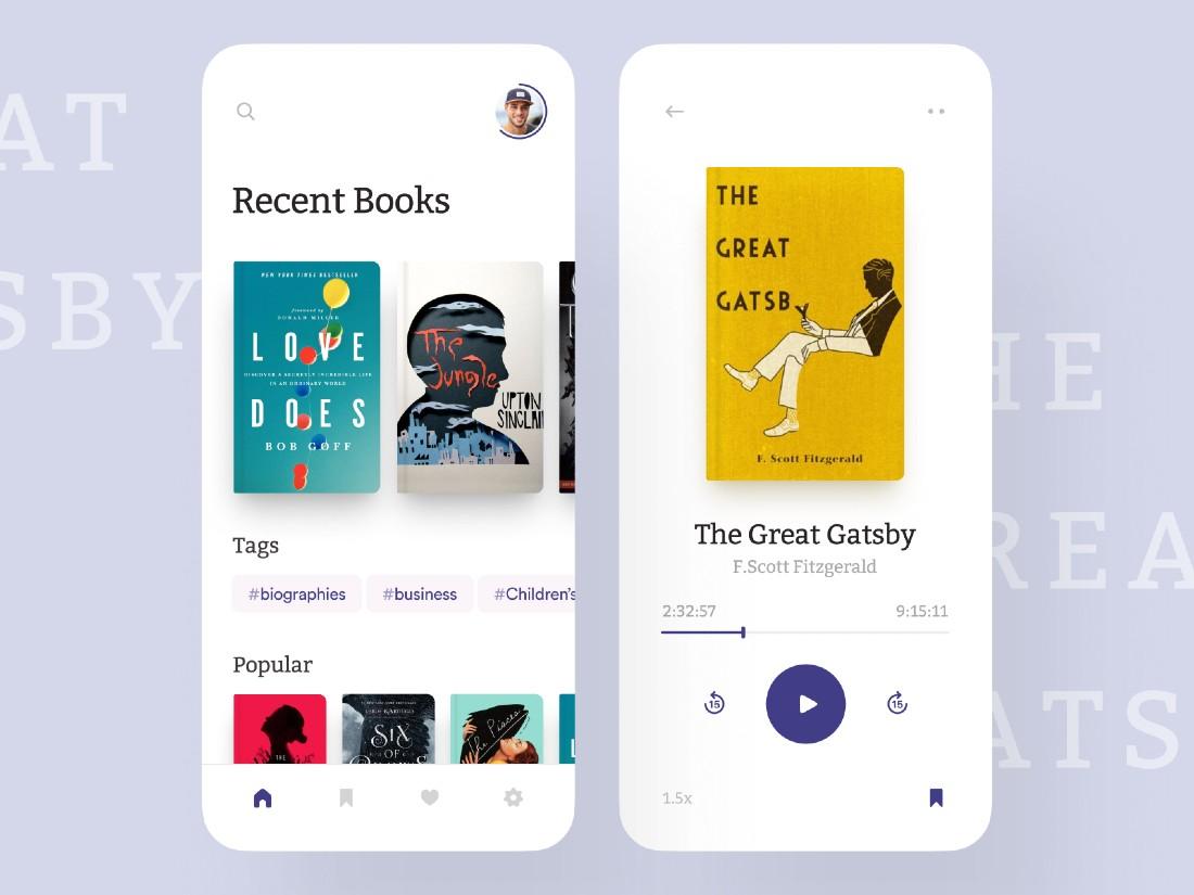 Audiobook App Concept UI