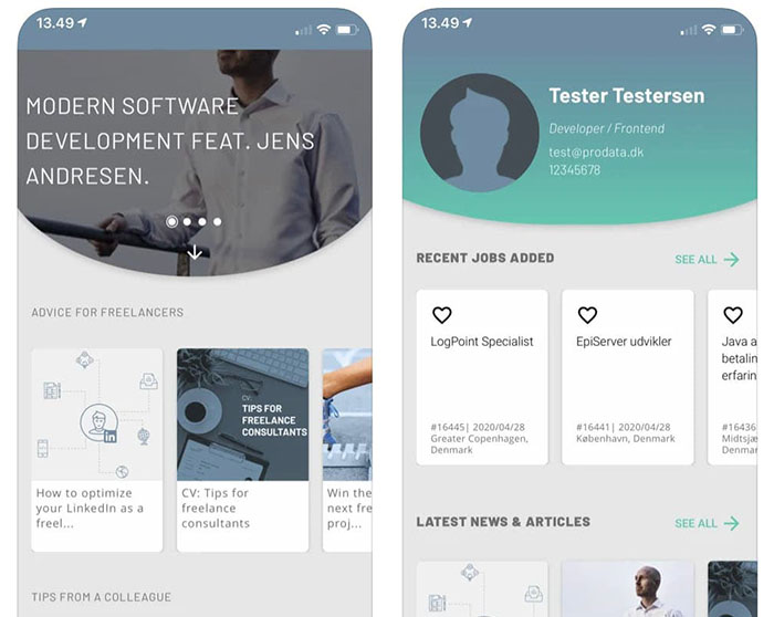 Consultant App mobile project