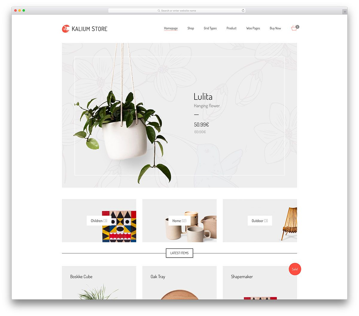Clean ecommerce website design