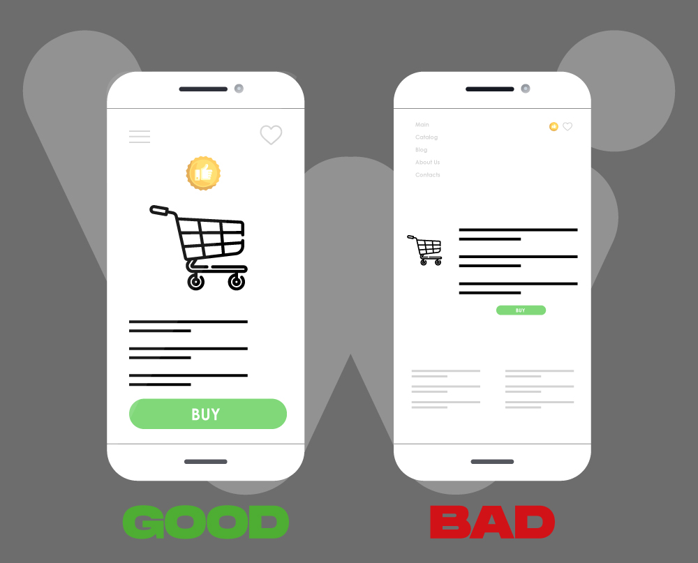 Mobile-friendly website design in ecommerce