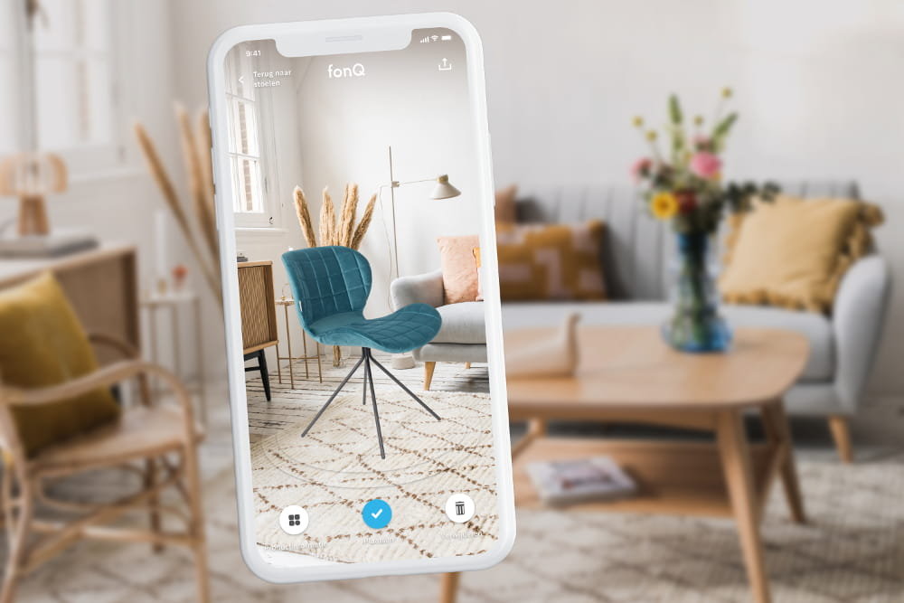 Creating room design with AR app