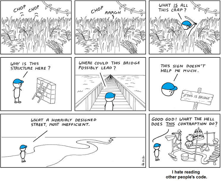 Differences between good and bad code