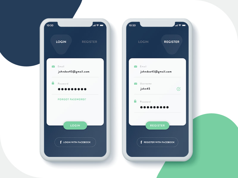 Login UI for Mobile App