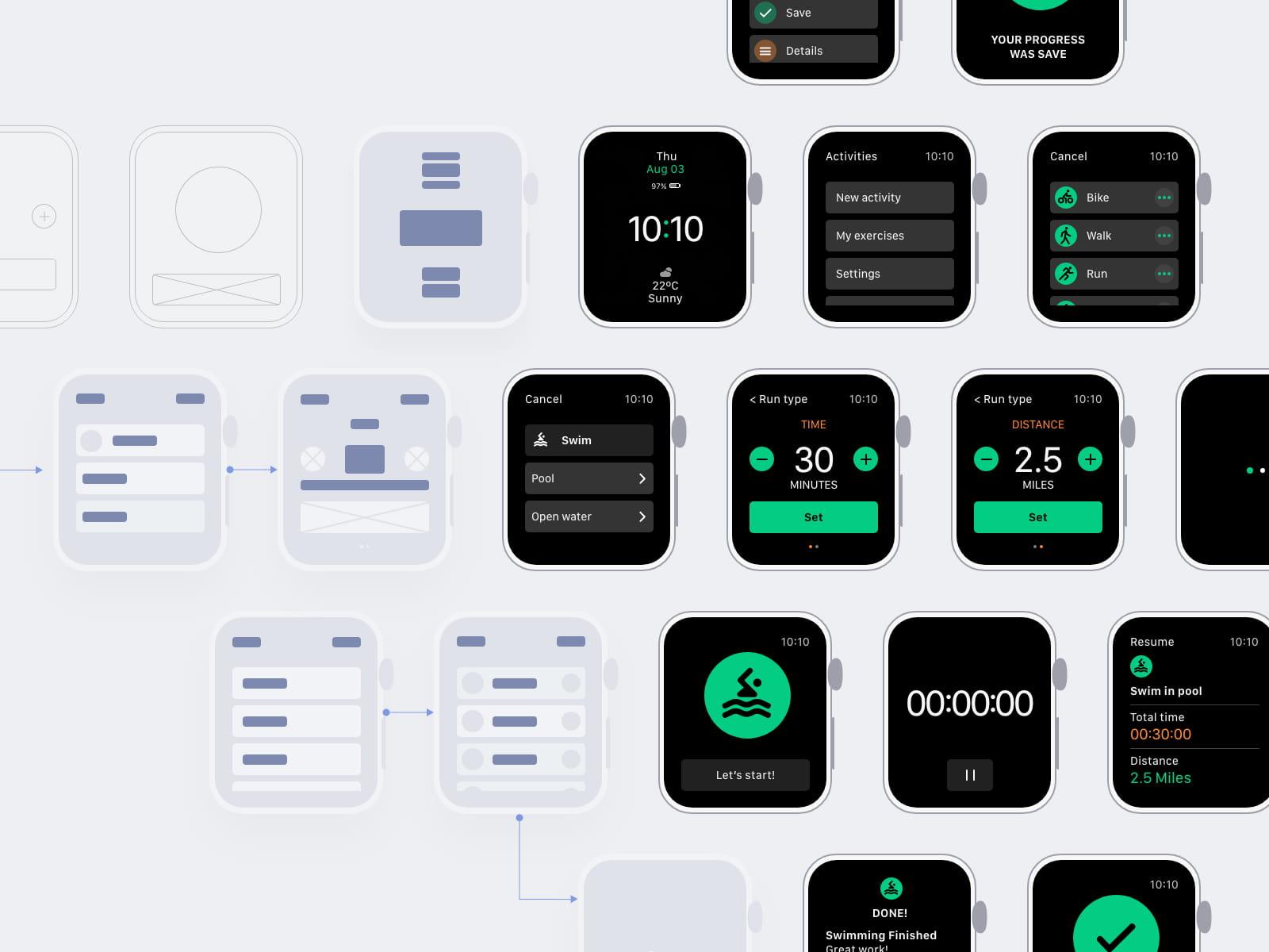 Wearable app tracking activities