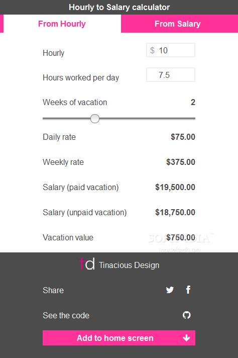 Salary and Hourly Wage Calculator